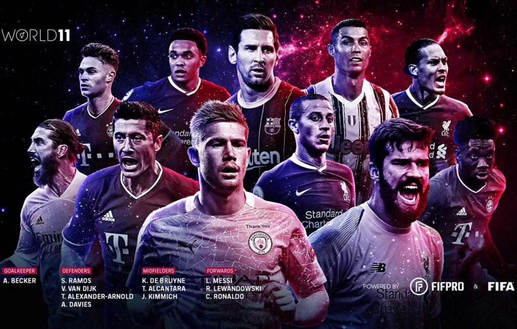 Predstavujeme mužskú FIFA FIFPRO WORLD 11 sezóny 2019/20